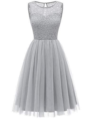 Bbonlinedress tüllrock faschingskostüme Damen tütü Cocktailkleid Tüll Kleid Brautjungfern Partykleid Abendkleid Grey M