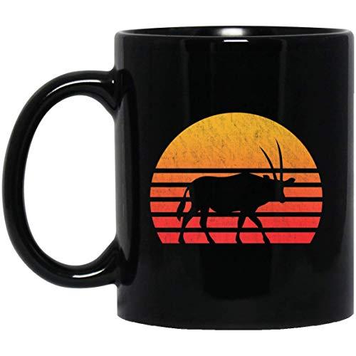 Vintage Retro Sunset Oryx 11 oz. Black Mug