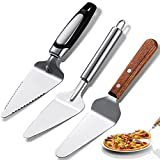 3 Pieces Pie Server Set Stainless Steel Pie Spatula Serrated with Comfortable Handle, Easy to Grip for Cutting and Serving Desserts Pizza and Cake