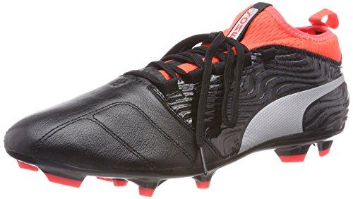Puma One 18.3 Fg, Scarpe da Calcio Uomo, Nero Black Silver-Red Blast, 43 EU