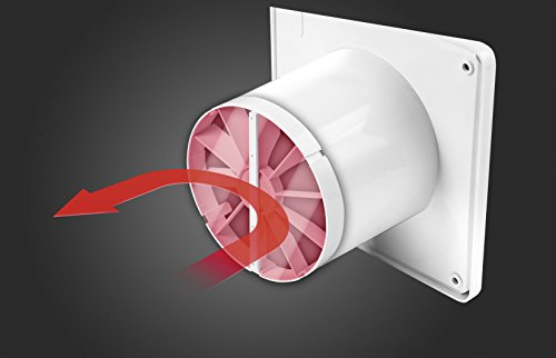 Clapet universel pour tous les ventilateurs de diamètre 100 mm pour salle de bain les awenta rohrventilator ventilateur clapet anti-retour