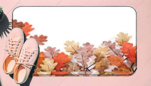 DIIRCYB Fu?Matte Indoor Outdoor rutschfeste waschbare Fu?Matte,Autumn Fall Oak Leaves Isolated,DIY Cropping Teppich,F¨¹r Hauptk¨¹Che Schlafzimmer Badezimmerboden Carpet15.7' X 23.6'