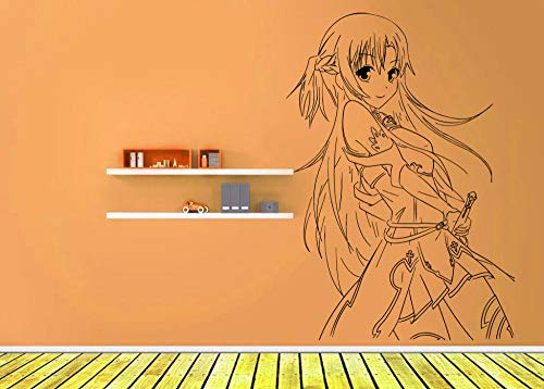 HQQPA 3D pegatinas de pared rotas Calcomanía de pared vinilo anime manga artista tierra religioso caballero