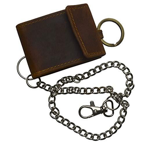 flevado Leder Geldbörse Schlüsselanhänger Wild Edition mit Langer Hosenkette 421