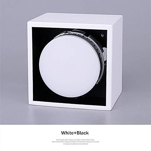 LED-Deckenleuchte, EinbaufläChe Licht 14W Spot-Lichtquellen Des Innen Flur Wohnzimmer-Licht-Lampe,Blackandwhite