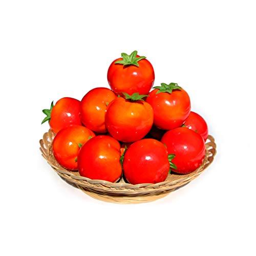 15 piezas Tomates artificiales Tomates falsos para decoración Tomates vegetales artificiales Tomates de simulación de tamaño normal Cocina Decoración para el hogar Decoración de fiesta de Navidad
