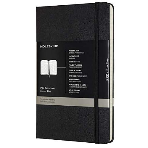 Moleskine Pro Notebook, Taccuino Professionale da Ufficio, Copertina Rigida, Large, Colore Nero