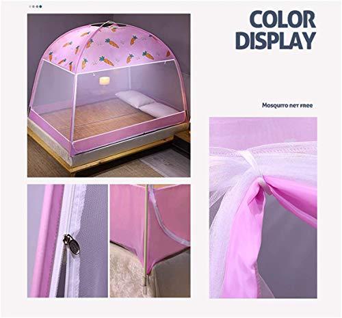 WLD Zomer Muggennet Thuis Textiel benodigdheden Muggennetje Bed Anti-Muggenbeet Vouwen Ontwerp Net, 2 Inzendingen voor Tweepersoonsbed Insect Netto Bescherming Geen Huid Irritatie, Roze roze