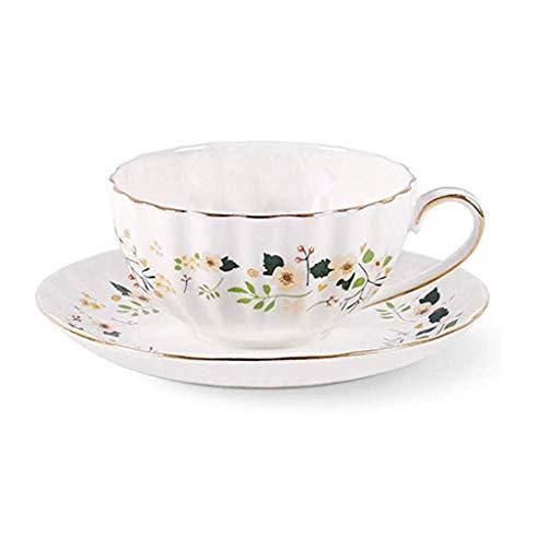 ZLDGYG Juego de café Rojo de la Taza de té y platillo, de Phnom Penh Idílico Porcelana cerámica Taza del Regalo