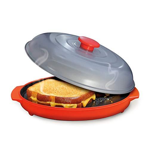 Tellaboull Plaque de bac à Micro-Ondes avec bac pour la Cuisine Cuisson au Micro-Ondes Utilisation du Four à Griller