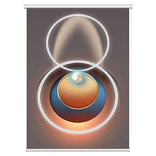 LIQICAI Cortina Enrollable Opaca,90% Filtrado Luz Persianas Enrollables,Protección UV Día y Noche Cortinas por Cuarto Baño Cuarto,Personalizable (Color : Multi-Colored, Size : 130x160cm)