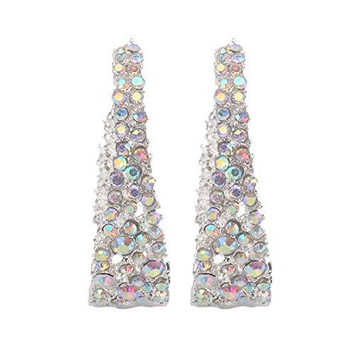 AchidistviQ Fashion C Shape Dangle Hoop Earrings Colorful Clip on Earrings/Hook Eardrops for Women Girls Multicolor