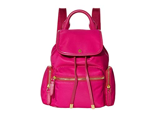 LAUREN Ralph Lauren Keely 17 Soft Nylon Backpack Small Deep Fuchsia One Size
