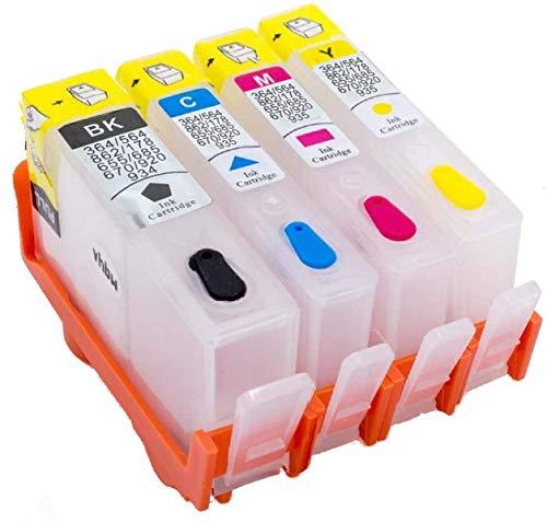 Navulbare lege HP 934 935 cartridges met chip hoge capaciteit compatibel met HP Officejet Pro 6830 6820 6230 6812 6815 6835 printer (1 zwart, 1 cyaan, 1 magenta, 1 geel)