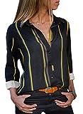 BLENCOT Donna Camicietta Blusa Camicia Donna Casual Manica Lunga Camicetta T-Shirt Scollo ...