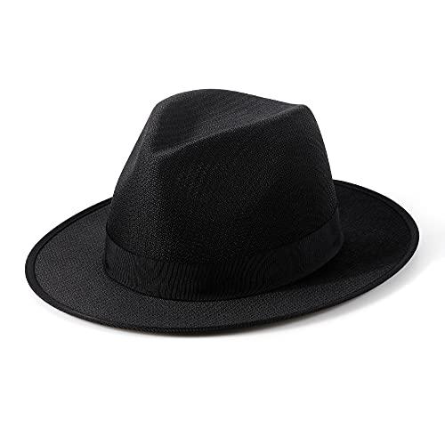 MIX BROWN Cappello Panama Fedora pieghevole Donna Uomo Regolabile Cappello di Paglia a Tesa Larga Traspiranti Spiaggia Estiva Cappelli da Sole l'estate Protezione Solare