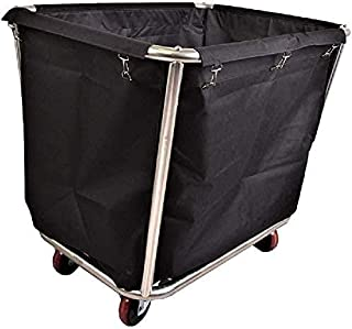 Panier à linge avec sac à roulettes et cadre en acier inoxydable, charge maximale de 200 kg - Beige