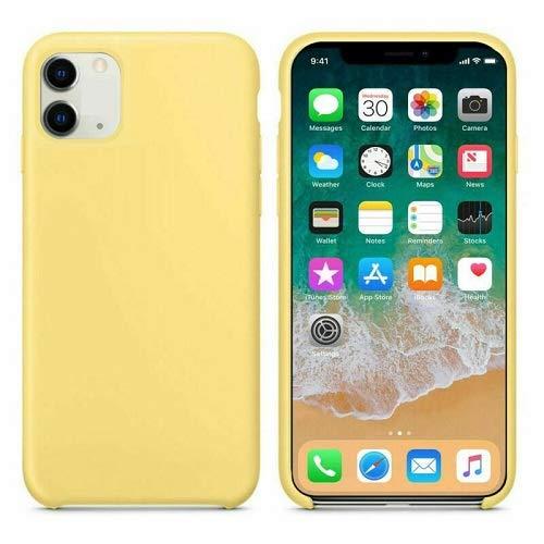 CABLEPELADO Funda Silicona iPhone 11 Textura Suave (Amarillo Claro)