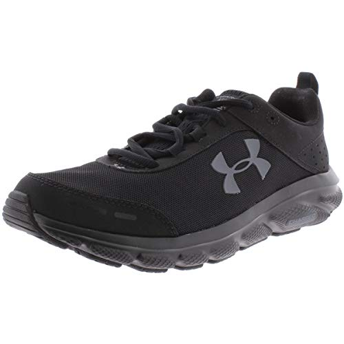 UNDER ARMOUR Men's Charged Assert 8 Running Shoe, Black (002)/Black, 11