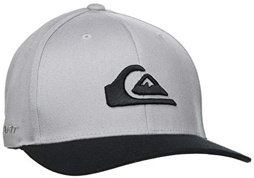 Quiksilver Mountain and Wave-Gorra Flexfit para Hombre, Sleet, L/XL