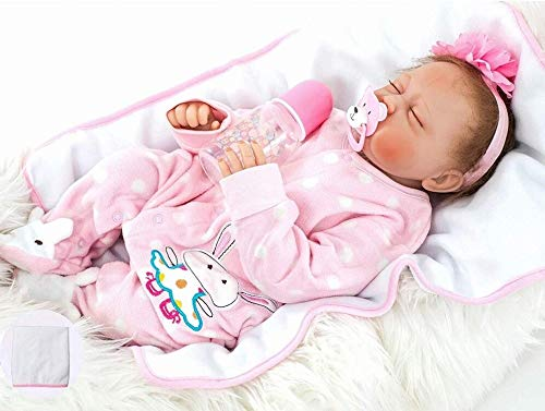 ZIYIUI Lifelike Reborn Baby Dolls 22 inch Real Soft Silicone Realistic Gift For Kids Newborn Baby Doll Real Looking Reborn Doll Toys