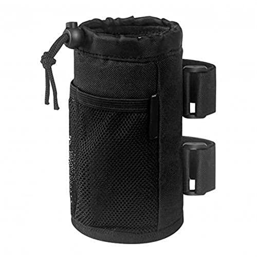 LAKYT Soporte para botella para silla de ruedas para bicicleta, soporte para vaso, botella de agua, bolsa de bebidas, accesorios para bicicletas, piezas de repuesto para jaula de botella (color negro)