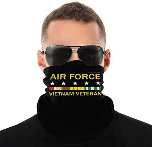 Vietnam Veteran Shirt Air Force Unisex Neck Gaiter Face Mask Warmer Mouth Cover Windproof Sports product image