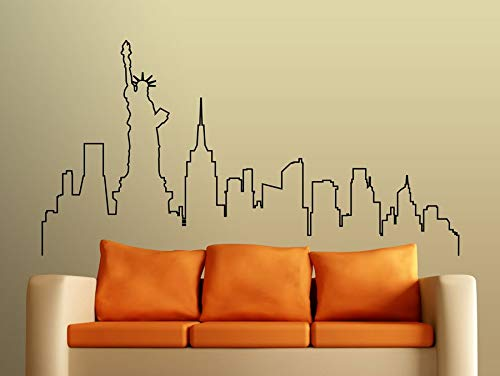 Vinyl Stickers Muraux American City Silhouette Patterns Decal for...
