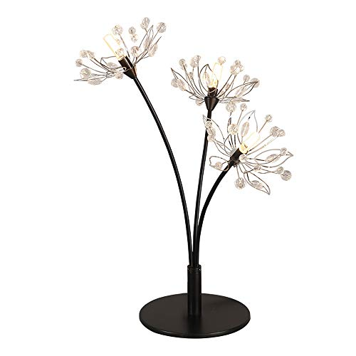Lámpara de mesa regulable, de metal, moderna, luz de escritorio decorativa de cristal creativa con LED, lámpara de lectura de noche de dormitorio, 26 W