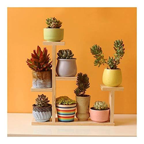 HUA RACKS Pflanzenständer aus Holz, mehrere Formen zur Auswahl, mehrlagiges Design, kombiniert als Blumen-, Garten-, Schlafzimmer-, Balkon-Zubehör a