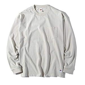 """フルーツオブザルーム [FRUIT OF THE LOOM] ロンT ビッグシルエット ポケット付き ヘビーウェイト Tシャツ メンズ ビッグT 7.2oz 長袖"""""""
