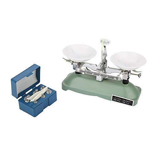 Balanza de bandeja de 200 g, balanza mecánica de laboratorio, ideal para enseñanza, bandeja de laboratorio con 1 bandeja de equilibrio para laboratorio para estudiante para experimentos químic