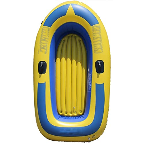 ReedG Kayac Al Aire Libre espesando Kayak Barco de Pesca Rafting Asalto Barco Inflable Caucho Bote Bote Inflable (Color : Yellow, Tamaño : 198x116x28cm)
