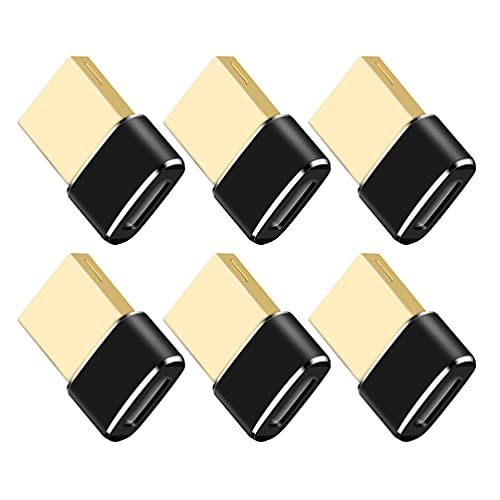 OSALADI 6 Unidades de Adaptador USB Tipo a USB 2. Convertidor de Transferencia de Datos de Salida de Carga 4A