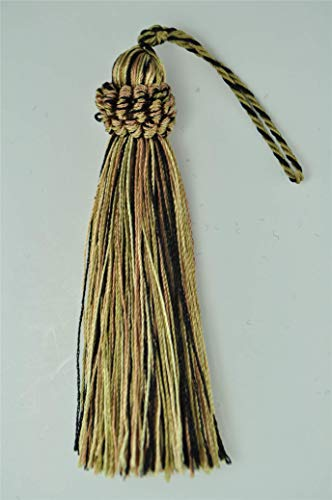 Set of 10 Decorative Burgundy Red, Gold 10cm Tassel, Imperial II Collection Style# CT04 Color: MIDNIGHT MEADOW - 4363