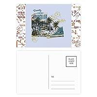白と黒のアラビア風のパターン 公式ポストカードセットサンクスカード郵送側20個