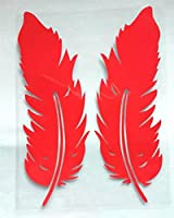 様々なサイズの飛行羽の車のデカールのスタイリングのステッカーの反射ビニール車のステッカー、オートバイのステッカー (Color Name : 2Pcs Red)