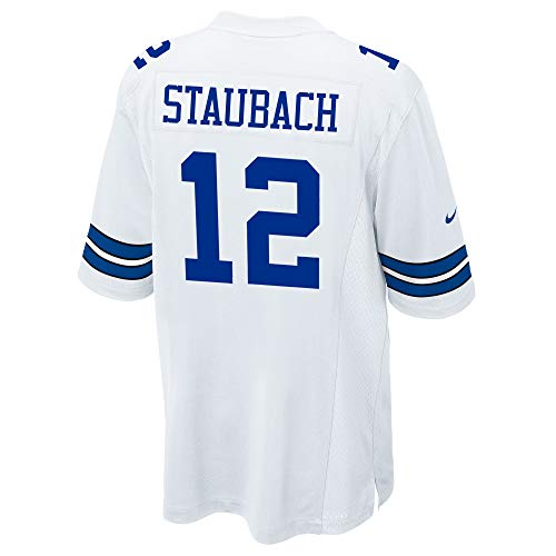Dallas Cowboys Mens NFL Nike Game Jersey, Roger Staubach, Medium, White
