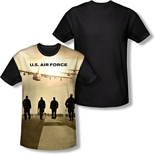 Air Force - - Long Walk T-shirt pour hommes, Large, White
