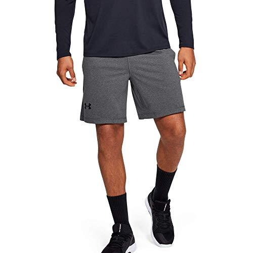 Under Armour UA RAID 8 Shorts, pantalón corto Hombre, gris (Carbon Heather/Black (090)), S