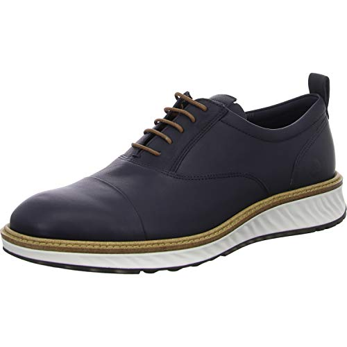 ECCO mens St.1 Hybrid Dri-tan Cap Toe Oxford, Night Sky, 6-6.5 US