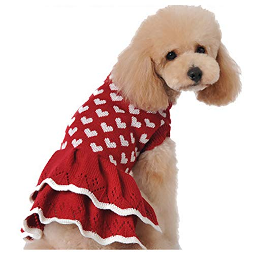 HAPEE Dog Sweater Dresses for Small Dog, Xmas Christmas cat Puppy Sweater