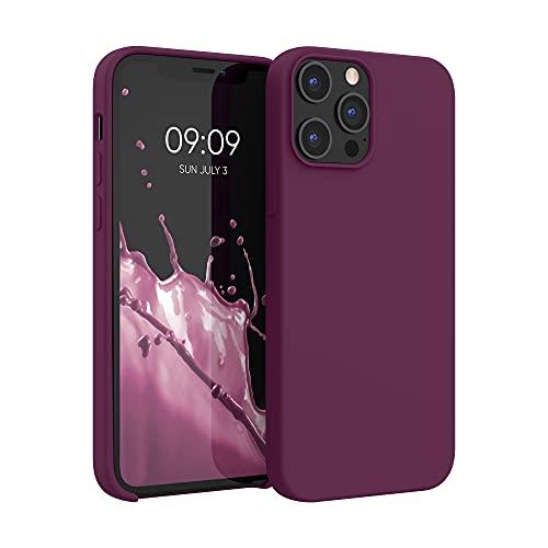 kwmobile Hülle kompatibel mit Apple iPhone 12 Pro Max - Hülle Silikon gummiert - Handyhülle - Handy Hülle in Bordeaux Violett