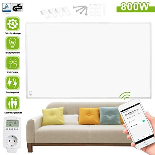 Hengda Infrarotheizung 800 Watt mit APP WiFi Funktionen, Heizpaneel mit LCD-Display Heizpaneel IR Infrarot-Elektroheizung IP54