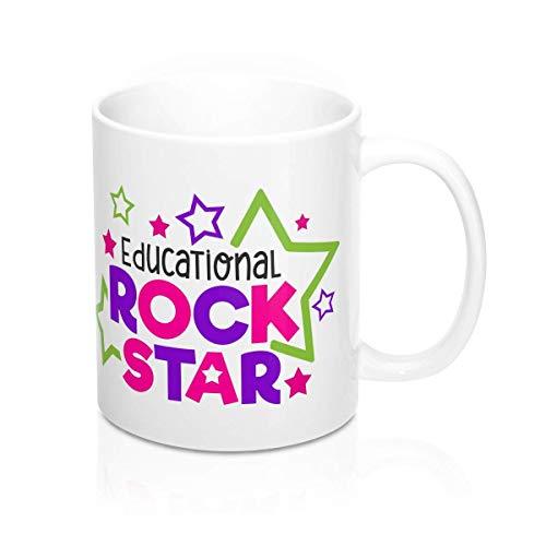 N\A Taza educativa de Estrella de Rock, Regalo para Maestro, Instructor, Regalo, Varios tamaños