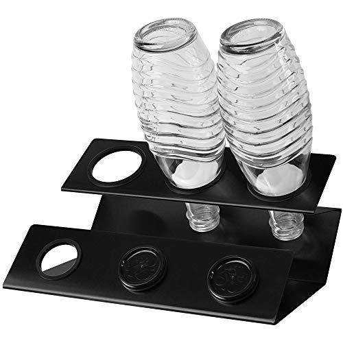Annvchi Sodastream Flaschenhalter, Soda Stream Crystal Glasflaschen Abtropfhalter, Hergestellt aus hochwertigen Materialien Sodastream Abtropfhalter, Flaschenhalter Abtropfen Lassen (schwarz)