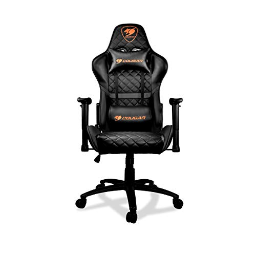 COUGAR Gaming Armor One Black poltrona da gaming, Finta Pelle, Nero, Medio