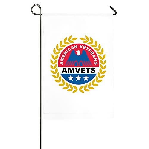 "American Veterans Amvets Garden Flag Double Sided for Garden Yard Outdoor Decorative 12""x18"""