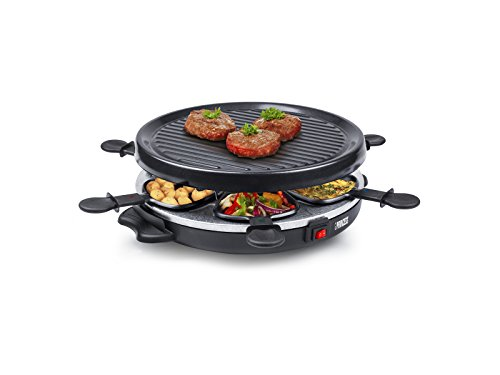 Princess 162725 Grill Party – Raclette para 6 personas con forma redonda