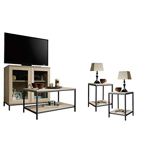 Home Square 4 Piece Living Room Set with Accent Chest...